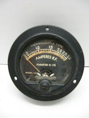 Vintage Simpson Antenna Current Meter Measures 0-3 Rf Amperes Model 135 Gauge