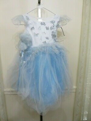 POTTERY BARN KIDS LIGHT UP BLUE BUTTERFLY MAGICAL FAIRY COSTUME 7-8 NEW