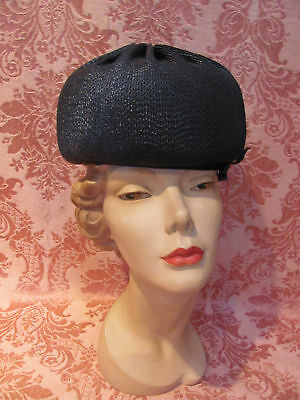"DEADSTOCK VINTAGE DIVA 1960s ""Lunch At The Plaza"" LILLY DACHE' BUBBLE TOQUE $42"