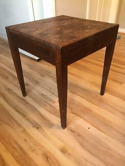 Large Wooden Side Table - 61.5 cm high