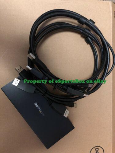 StarTech 2-Port DisplayPort KVM Switch USB 2.0 Hub with Cables (SV231DPU2)