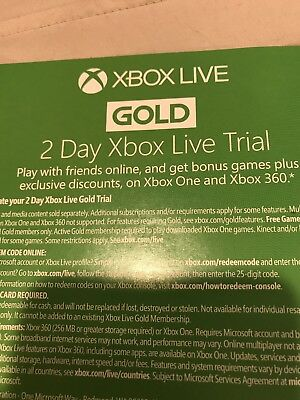 Xbox Live 48Hr 2 Day Gold Trial Code