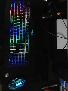 LED mouse and keyboard