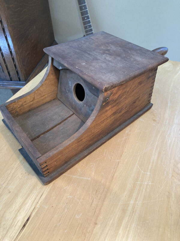 Vintage BALLOT BOX.  Fraternal LODGE Election Voting. Wood, Screw-in Handle.