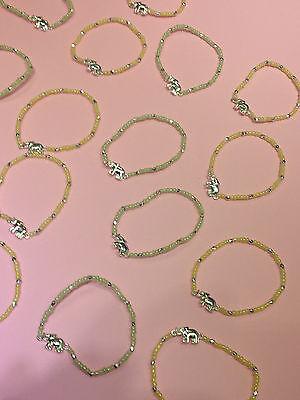 WHOLESALE  LOT 17 NEW  SILVER  ELEPHANT  BEAD STRETCH  BRACELETS  NOVELTY  GIFTS - Novelty Beads Wholesale