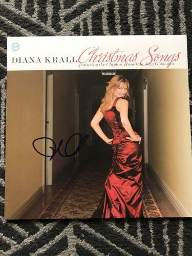 Diana Krall Autographed Signed Christmas Songs Vinyl LP JSA COA