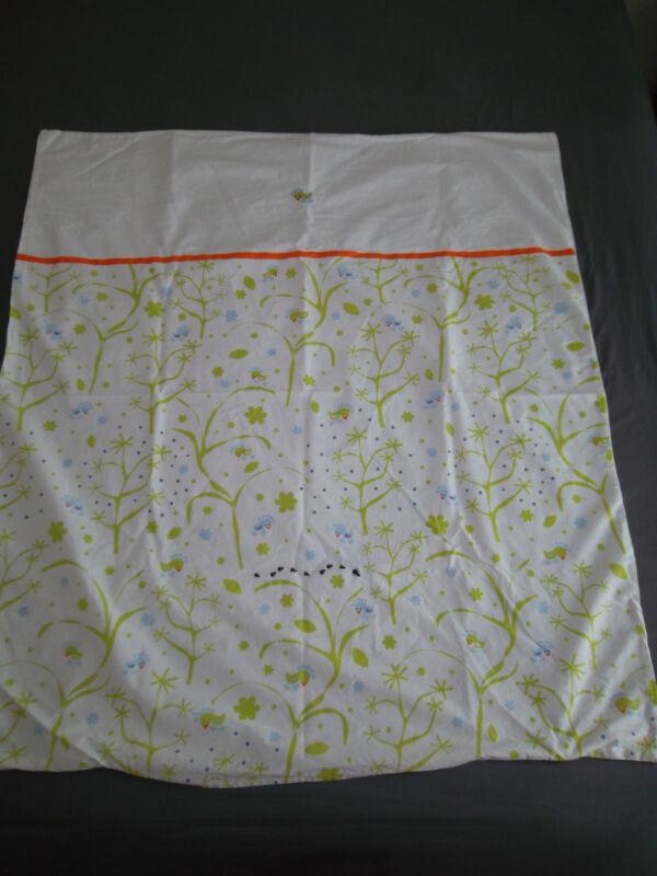 IKEA Fagelsang Crib Toddler Duvet Cover White Green Orange Tree Bird Ant Dot