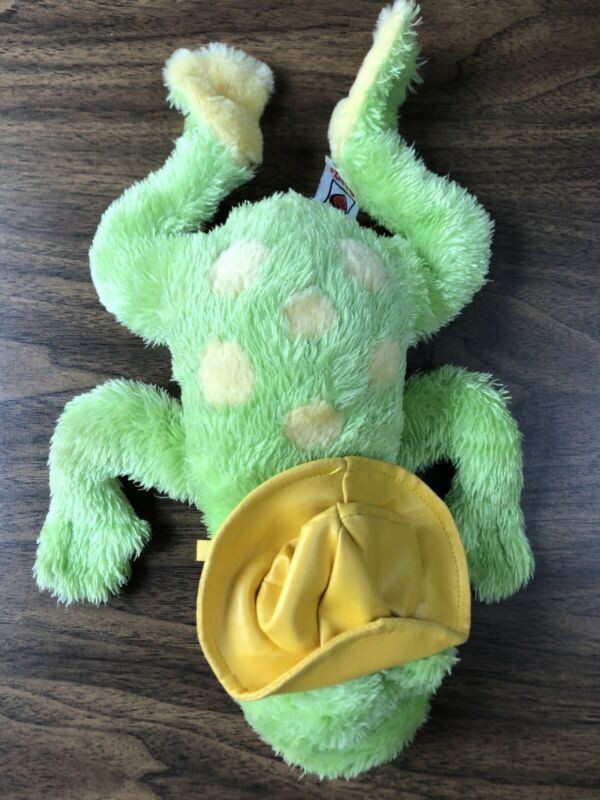 "GANZ Puddle Hopper Animated Frog W Hat Moves & Sings ""Ain't Gonna Rain No More"""