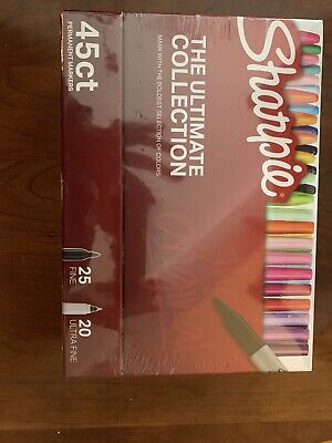 Sharpie The Ultimate Collection 45 Ct 25 Fine 20 Ultra Fine New Color Assortment