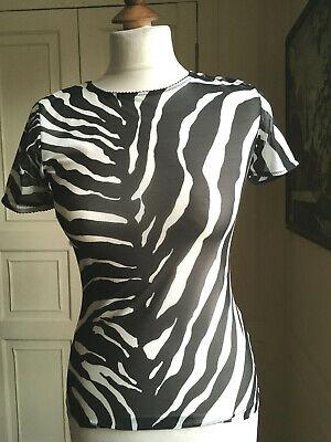 DOLCE & GABANNA Intimo BNWOT size III (UK10/ 12) zebra print short sleeve top