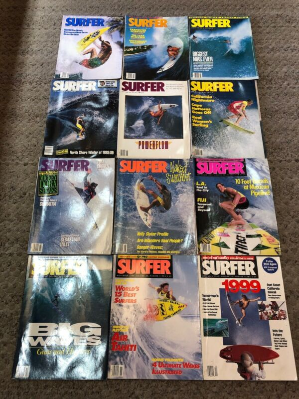 SURFER MAGAZINE 1989 VOL.30  LOT OF 12 ISSUES  All in Good Condition