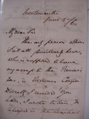Richard Chenevix Trench 1860 ALS - Bible