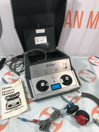 Beltone 119 Audiometer System with headset & manual