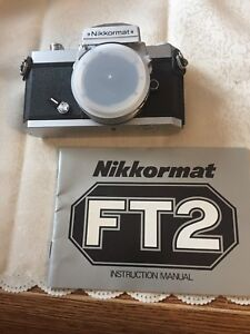 Nikon 35mm -  Nikkormat FT2 Camera Body & Manual