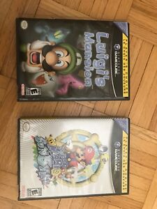 Luigi's Mansion Super Mario Sunshine GameCube games