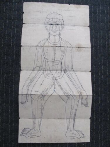 Antique / Vintage Thai Medical / Samut Khoi Paper Diagram
