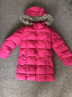 Girls Pink Gap Coat Age 6/7 Years