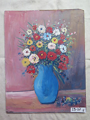 Antique Painting Floral Style Impressionist Painting oil On Board Blossom V