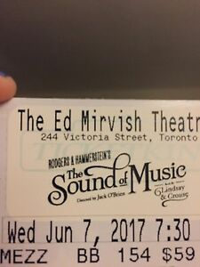 The Sound Of Music - 2 tickets