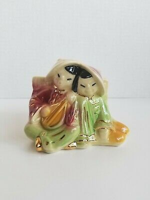 Vintage USA 573 Mid Century Oriental Couple Ceramic Planter