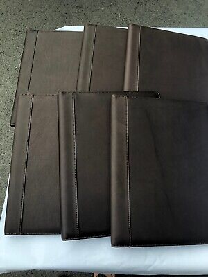 6 Genuine Professional Padfolio Portfolio Real Leather W Writing Pad Mocha Br