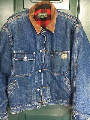 Ralph Lauren Polo Country Authetic Dry Goods Denim Jacket Suede L