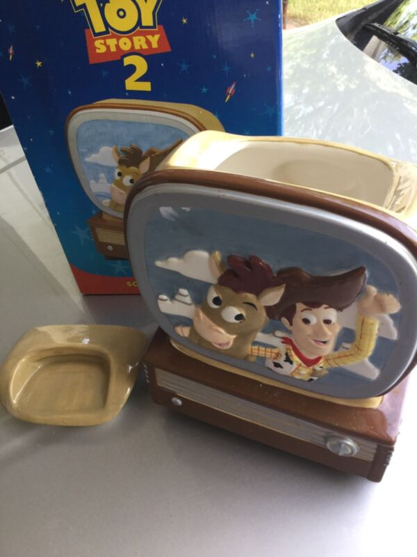 "Disney Pixar TOY STORY 2 3D Sculpted Cookie Jar Woody Bullseye 10"" Tall Rare"