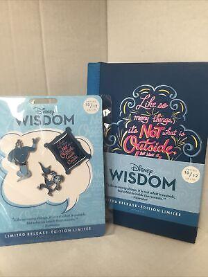 Disney Authentic WISDOM Aladdin Genie 10/12 PIN SET ~ JOURNAL LR NEW