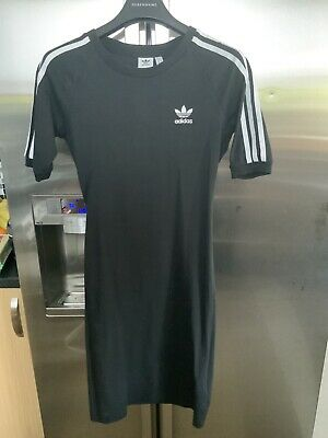 Adidas Women's 3 Stripes Dress - Black Size Uk 12 - Medium /CY4748 ODY001