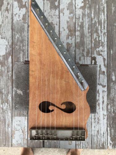 NEAT  VINTAGE CHARM F.M.T. MARK  Wooden Lap Harp Musical Intsrument