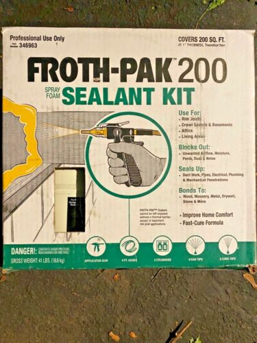 Froth-Pak 200 board feet spray foam Insulation 346963 DOW sealant kit brand new