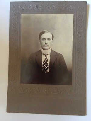 Cabinet Card Photo Seated Man Mustache Part VTG Antique Late 1800s](Mustache Part)