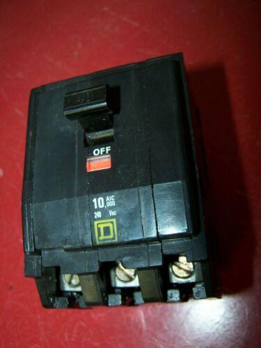 SQUARE D QO340 CIRCUIT BREAKER 3 POLE 40 AMP 120/240 VAC PUSH-IN