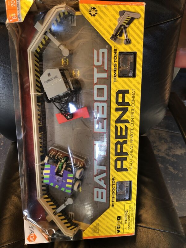 BATTLEBOTS ARENA Remote Control Robots TOMBSTONE & WITCH DOCTOR.Open Box