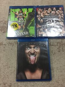 5 WWE Blu-ray brand new sealed from WWE shop for sale