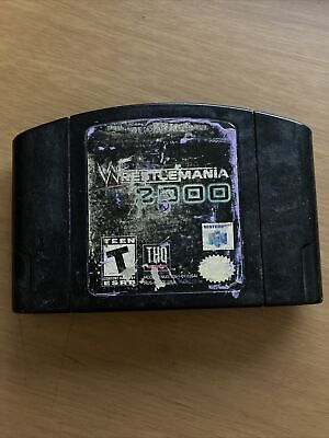 WWF Wrestlemania 2000 Nintendo 64 N64 Authentic Cart Only ACCEPTABLE