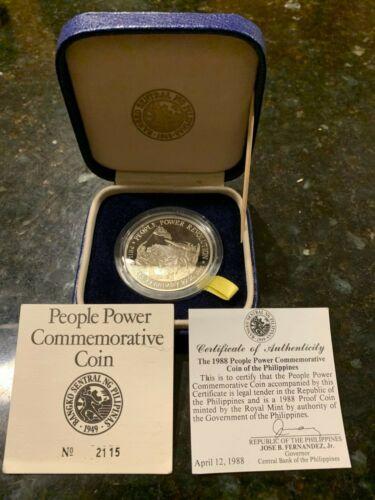 PHILIPPINES 1988 500 PESO PEOPLE POWER COMMEMORATIVE  WITH COA/LITERATURE & BOX