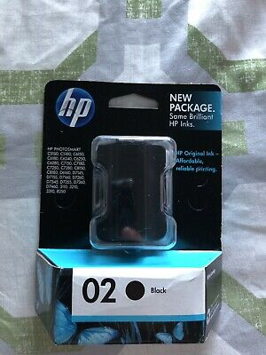 HP 02 Black Ink Toner Computer Printer. New Never Opened. Expired