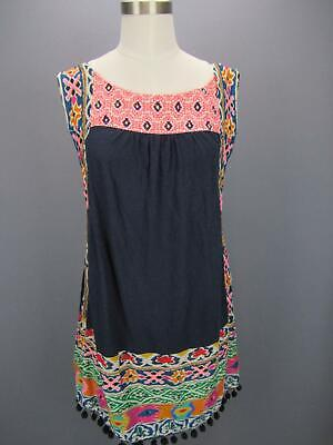 Anthropologie Akemi + Kin TINAMOU TUNIC top Beads Embroidery Sequins Pockets M