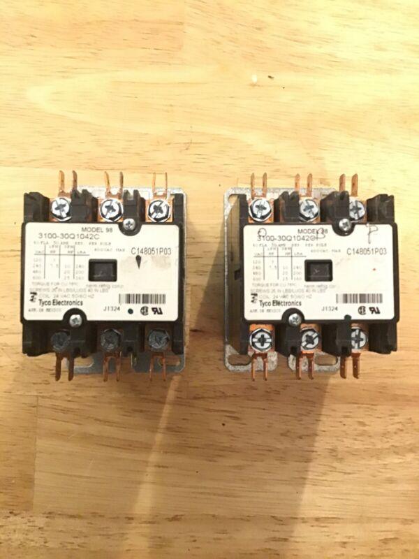 Tyco Electronics Contactor 3100-30Q1042C; C148051P03; 24VAC; 50/60HZ Set Of 2