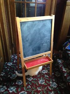 Child's chalkboard, easel, whiteboard