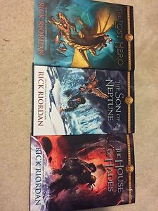 The Lost Heroes of Olympus books one, two and four - HARDCOVER