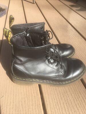Dr. Martens Delaney Black UK 3/US 5 Black Leather 8-Eye Boots N01