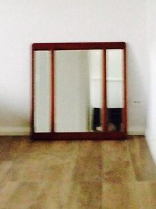 Wooden wall mirror Casula Liverpool Area Preview