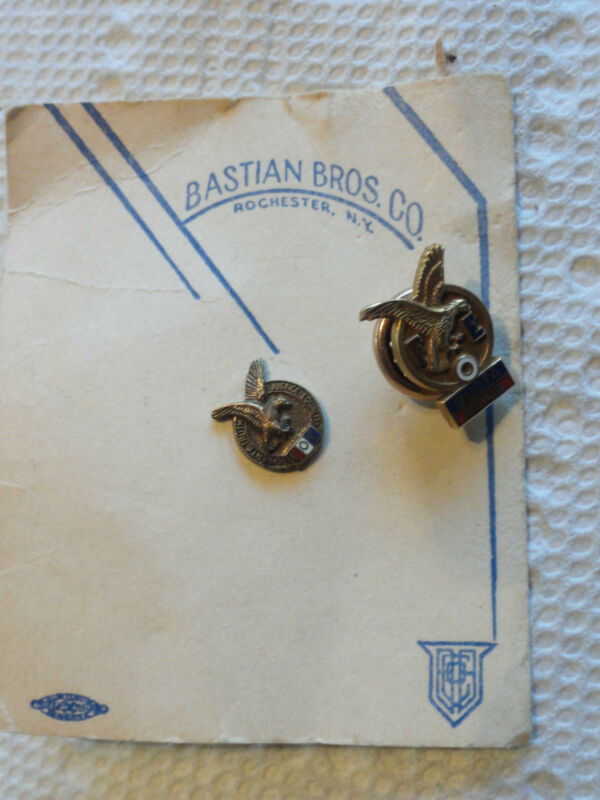 2 Old Fraternal Order Of Eagles Pins - One On Original Card
