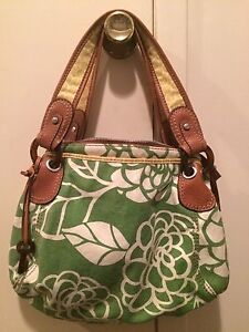 Fossil Leather and Fabric Purse