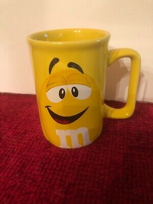 M&M's Yellow Peanut Coffee Mug Cup Character Face Official Licensed Product 2012](Peanuts Characters Merchandise)