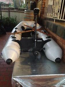 Inflatable boat Electric motor and Oars Parramatta Parramatta Area Preview