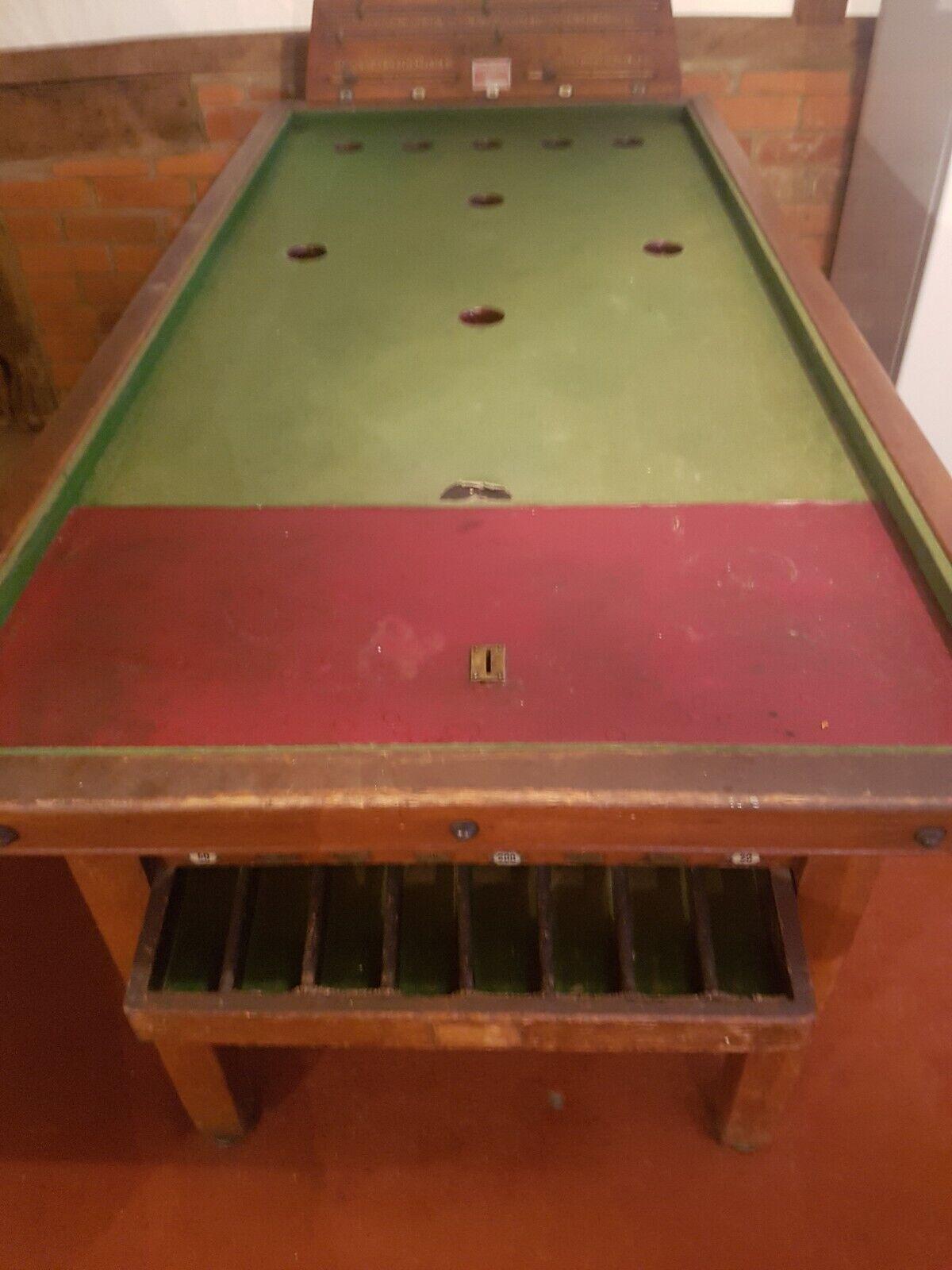 Antique Bar billiards Tables - E J Riley -Sams - BandW Bar billiard Table c1940's