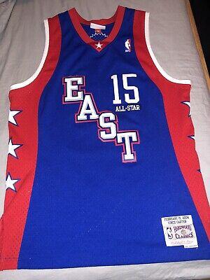 Vince Carter NBA All Star East Mitchell & Ness Swingman Blue Jersey Men's SIZE M